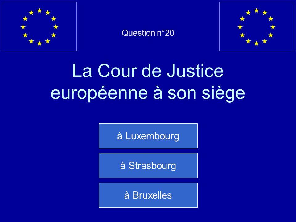 Mauvaise réponse… Il y a 785 députés au Parlement européen Question suivante