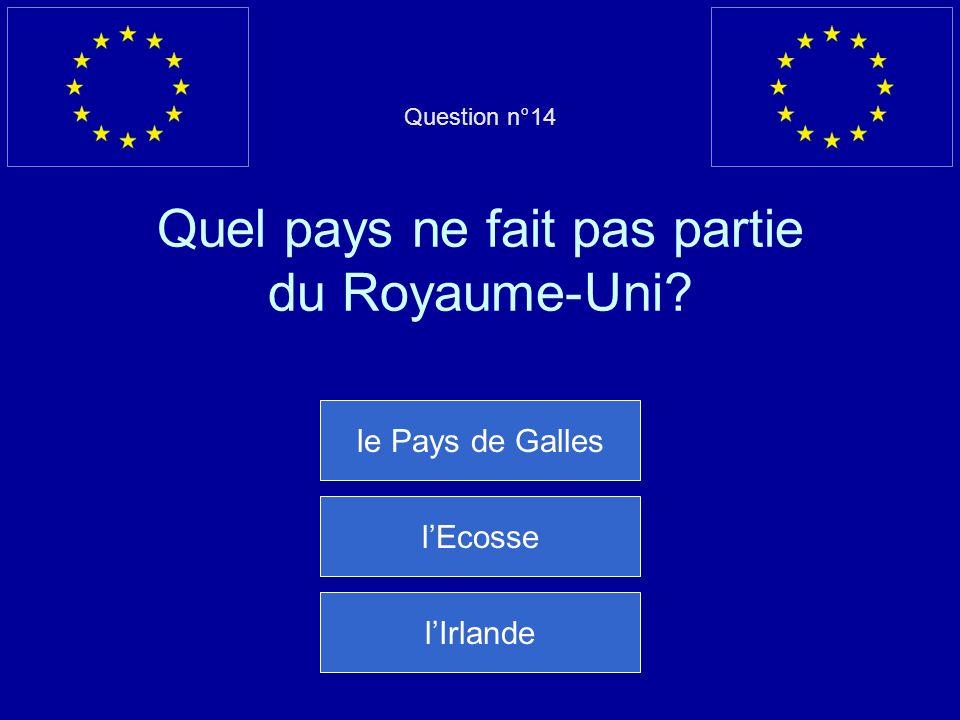 Mauvaise réponse… Le Portugal est entré dans lUE en 1986 Question suivante