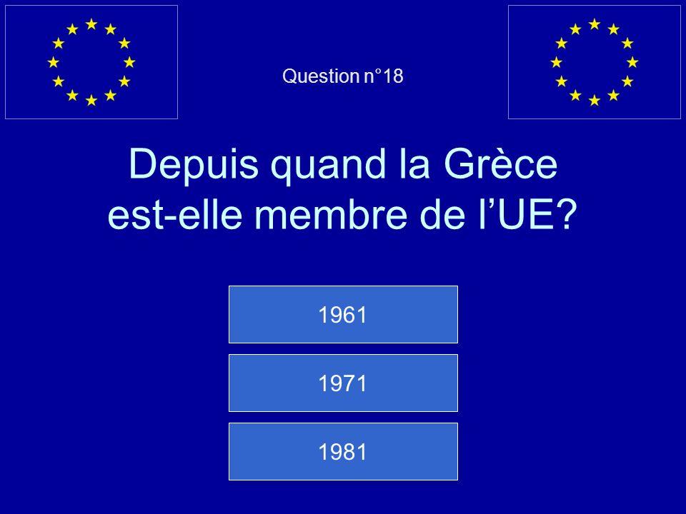 Mauvaise réponse… La Pologne est membre de lUE depuis 2004 Question suivante