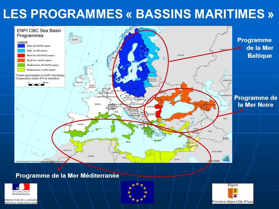 Programme de la Mer Noire Programme de la Mer Baltique Programme de la Mer Méditerranée LES PROGRAMMES « BASSINS MARITIMES »