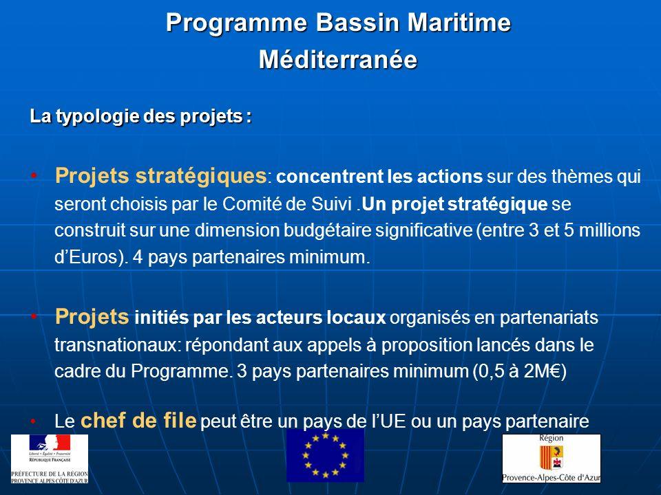 La typologie des projets : Projets stratégiques : concentrent les actions sur des thèmes qui seront choisis par le Comité de Suivi.Un projet stratégiq