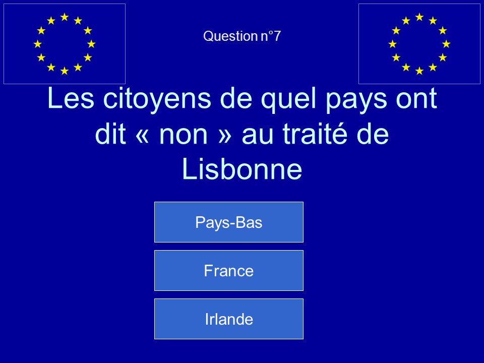Mauvaise réponse… La Bulgarie est entrée dans lUE le 1 er janvier 2007 Question suivante