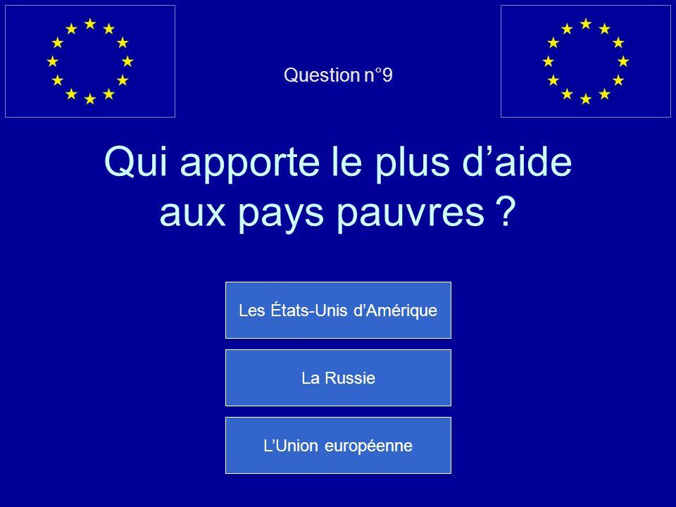 Mauvaise réponse… il sappelle José Manuel Barroso Question suivante