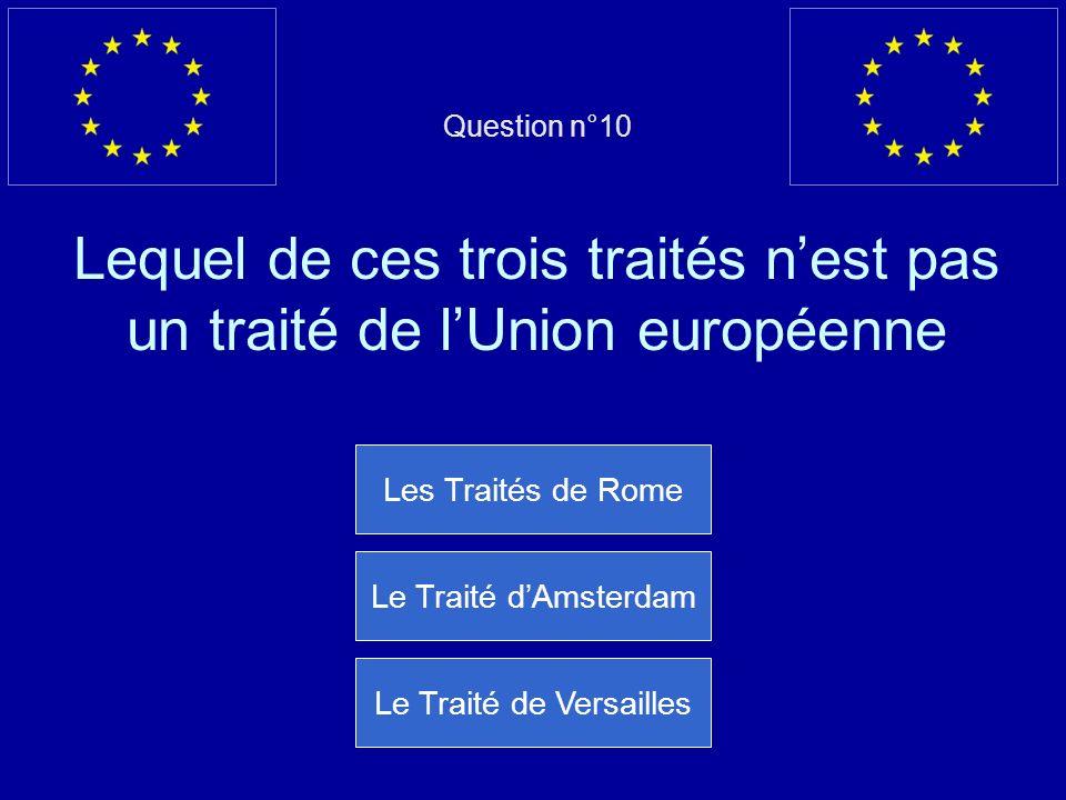 Mauvaise réponse… Cest lUnion européenne qui apporte le plus daide aux pays pauvres Question suivante