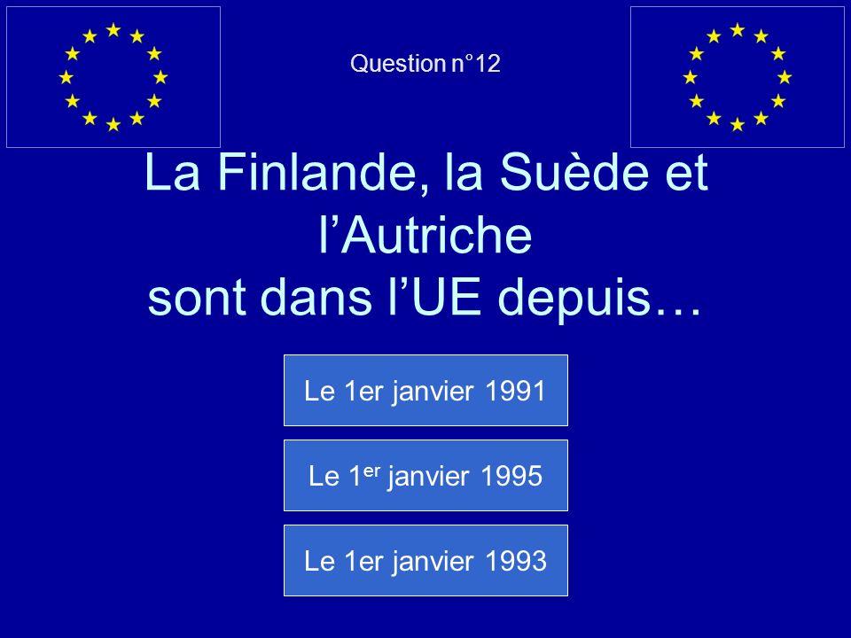 Mauvaise réponse… La Roumanie est entrée dans lUE le 1er janvier 2007 Question suivante