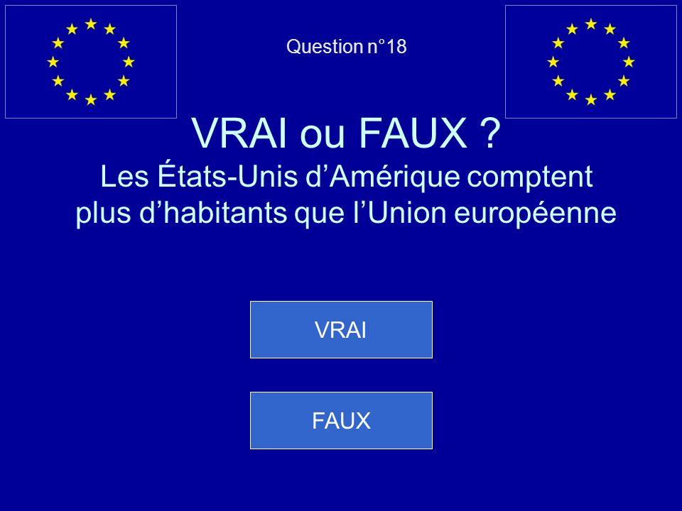 Mauvaise réponse… Cest VRAI, grâce à la citoyenneté européenne Question suivante