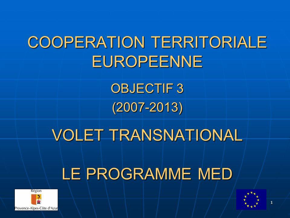 2 LE PROGRAMME MED Espace de coopération Chypre Espagne (6 Autonomies régionales et 2 villes autonomes) France (4 Régions) Grèce Italie (18 Régions) Malte Portugal (2 Régions) Royaume-Uni (Gibraltar) Slovénie Pays tiers ?