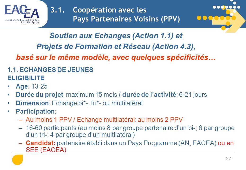 28 3.1. Coopération avec les Pays Partenaires Voisins (PPV)