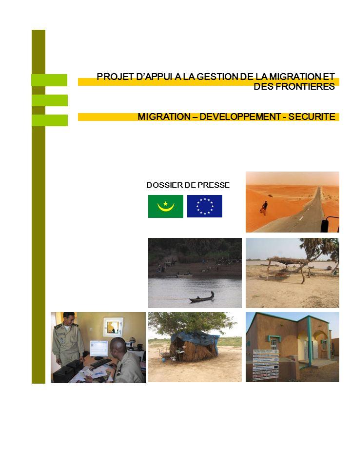 Délégation de lUnion Européenne en Mauritanie : (222) 45 25 27 24 / @ : Delegation-mauritania@eeas.europa.eu www.delmrt.ec.europa.eu MIGRATION DES FRONTIERES PLUS SURES ET DES MIGRANTS PROTEGES En 2011, lUnion Européenne a investit plus d1 milliard dUM dans le cadre de projets visant lamélioration du contrôle des frontières et une plus grande sécurisation du pays.