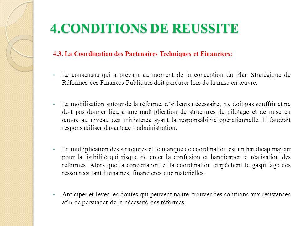 4.CONDITIONS DE REUSSITE 4.3.