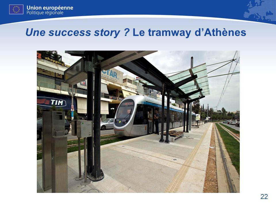 22 Une success story ? Le tramway dAthènes