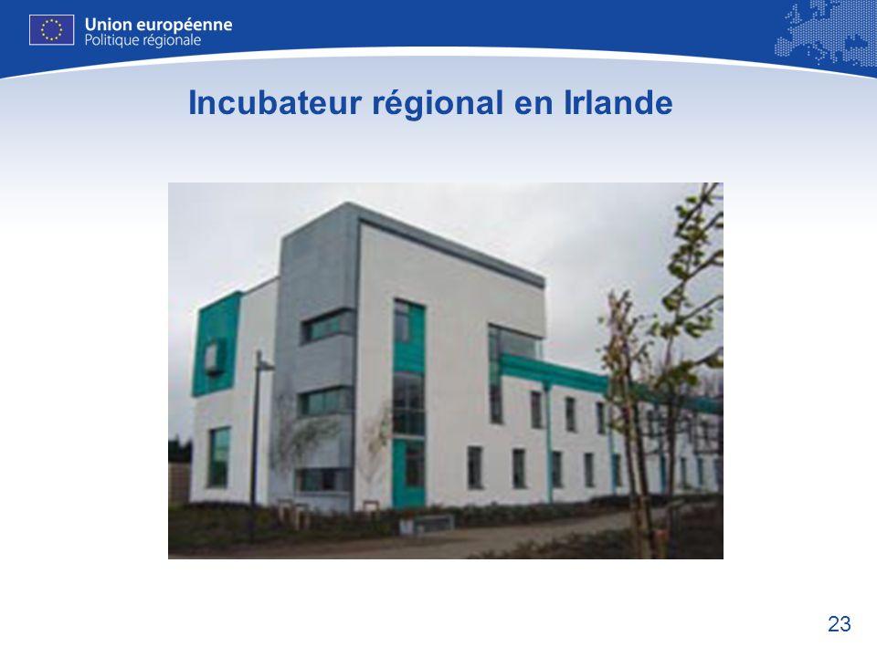 23 Incubateur régional en Irlande