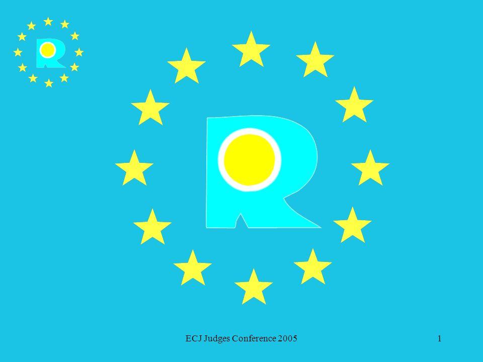 ECJ Judges Conference 2005142 Affaires de marques devant la Cour de justice des Communautés européennes Etendue de la protection – risque de confusion Pourvois en vertu de larticle 63 du RMC