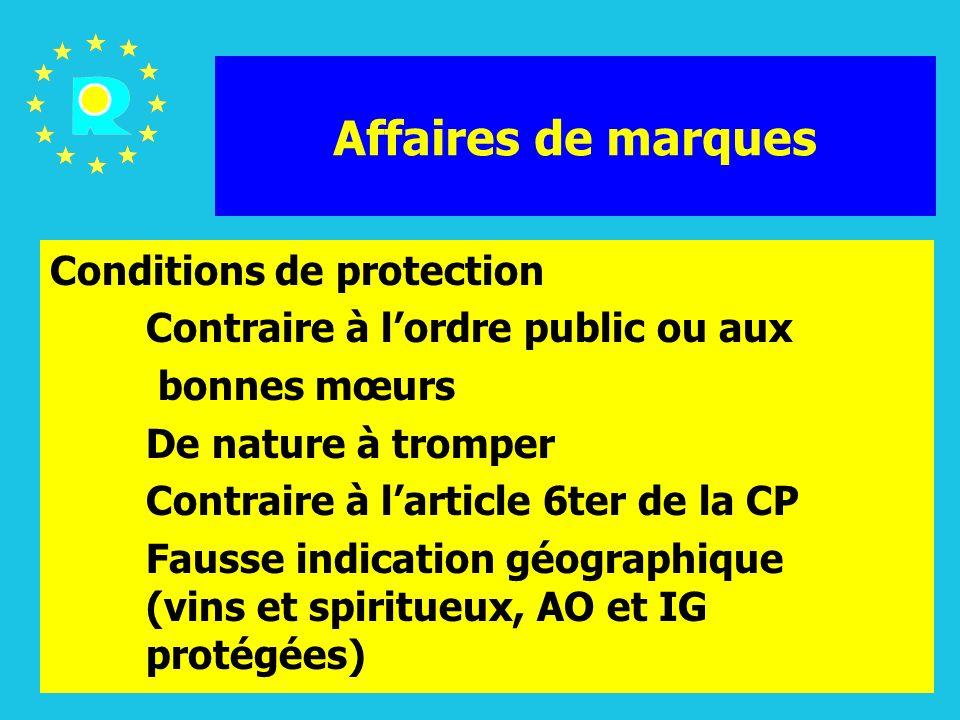 ECJ Judges Conference 2005128 Affaires de marques Etendue de la protection (Articles 4 et 5 de la directive sur les marques, articles 8 et 9 du RMC)