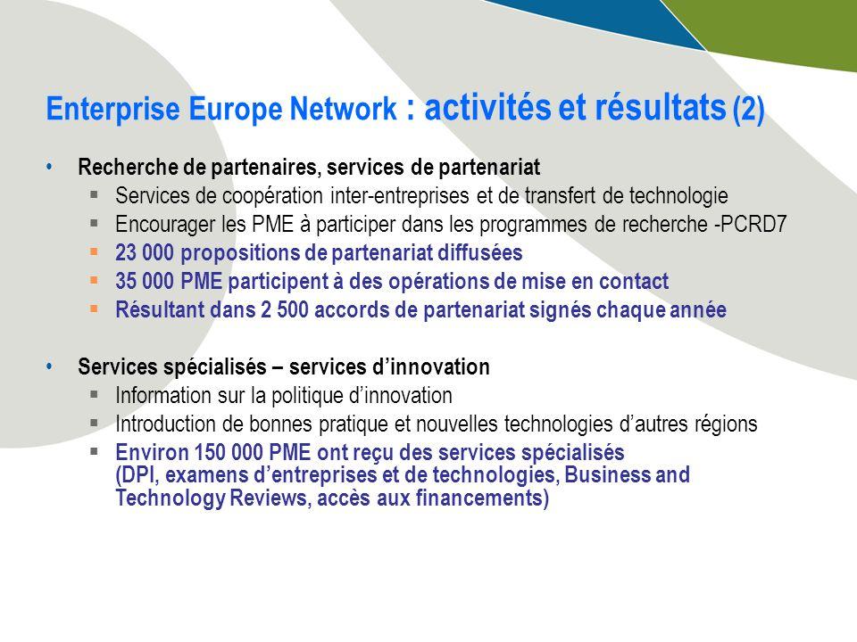 Recherche de partenaires, services de partenariat Services de coopération inter-entreprises et de transfert de technologie Encourager les PME à partic