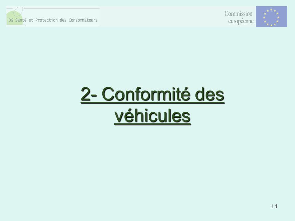 14 2- Conformité des véhicules