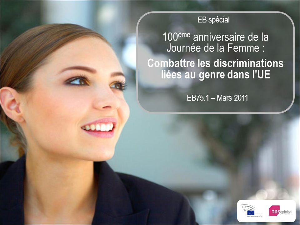 EB75.1 – Mars 2011 100 ème anniversaire de la Journée de la Femme : Combattre les discriminations liées au genre dans lUE EB spécial