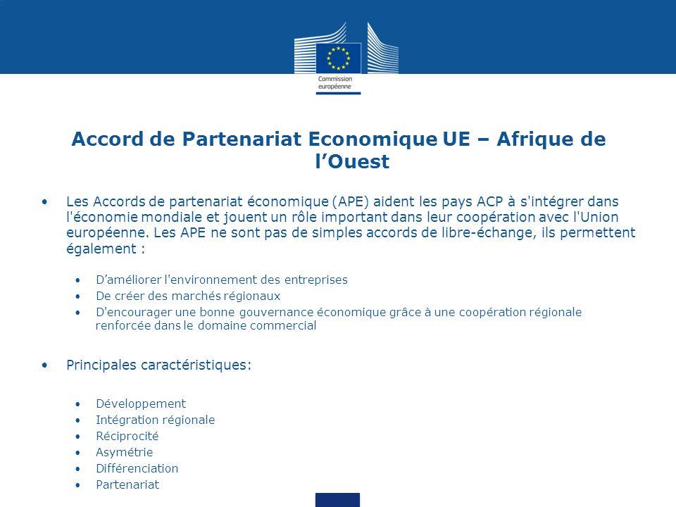 Sommaire de la présentation 1.Commerce Sénégal-UE: donnés et chiffres clés 2.Régime commercial Sénégal-UE 3.Stratégie de lUE en faveur de laide au commerce 4.LUE sengage pour le développement du commerce au Sénégal