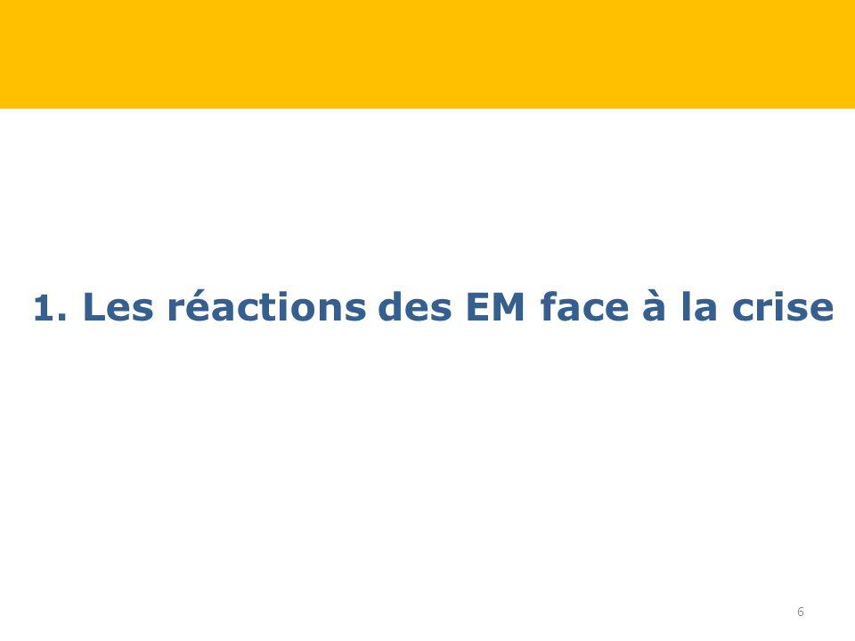 1. Les réactions des EM face à la crise 6