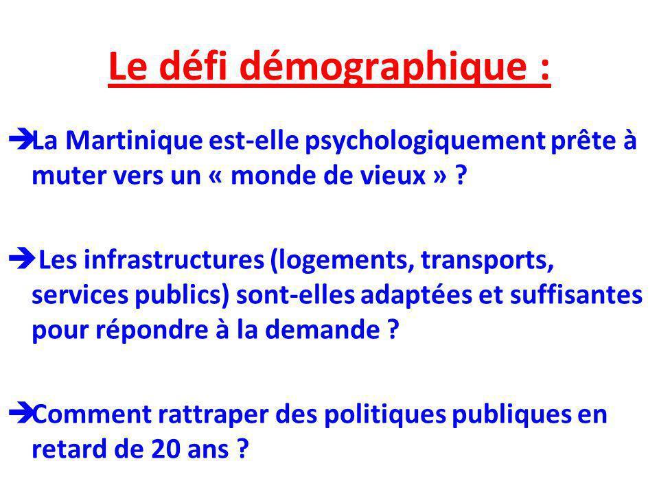 Le défi démographique : La Martinique est-elle psychologiquement prête à muter vers un « monde de vieux » ? Les infrastructures (logements, transports