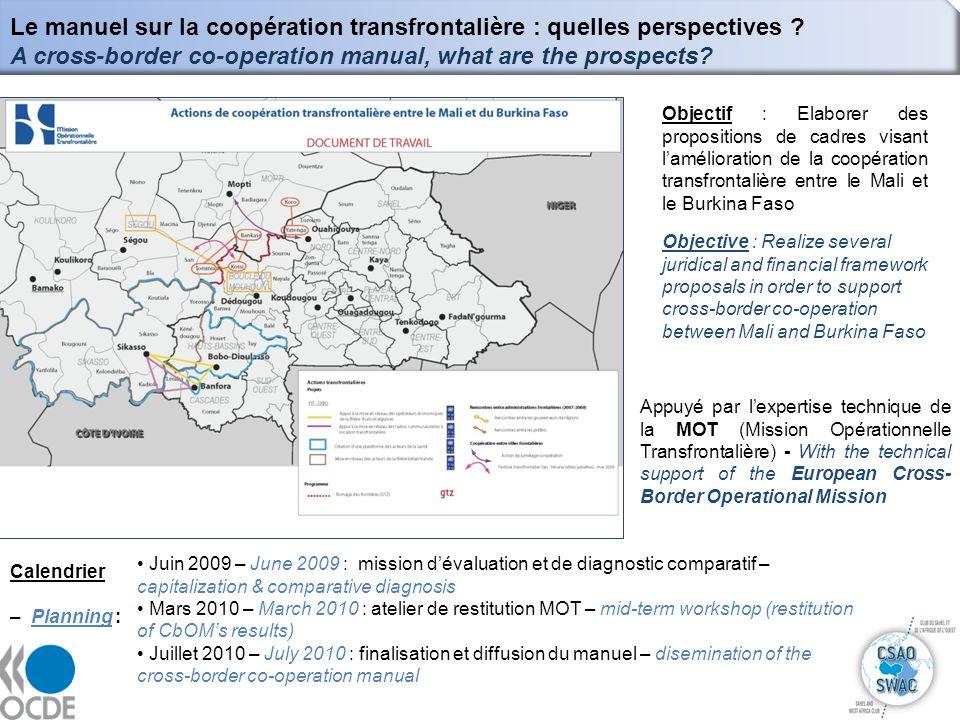 10 Le manuel sur la coopération transfrontalière : quelles perspectives ? A cross-border co-operation manual, what are the prospects? Objectif : Elabo