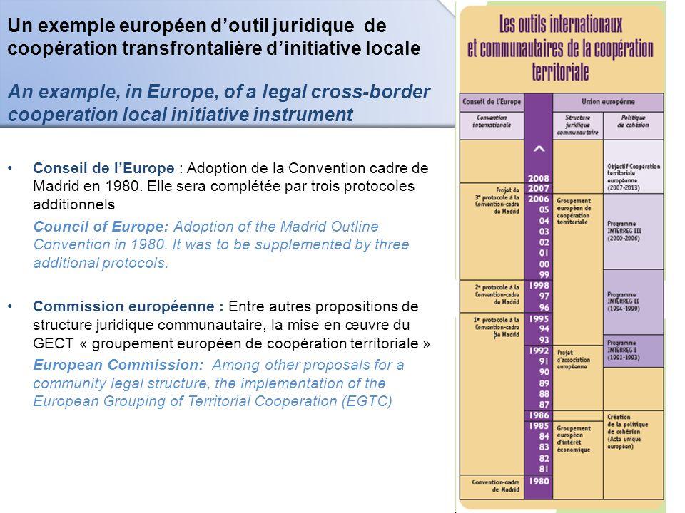 Un exemple européen doutil juridique de coopération transfrontalière dinitiative locale An example, in Europe, of a legal cross-border cooperation loc