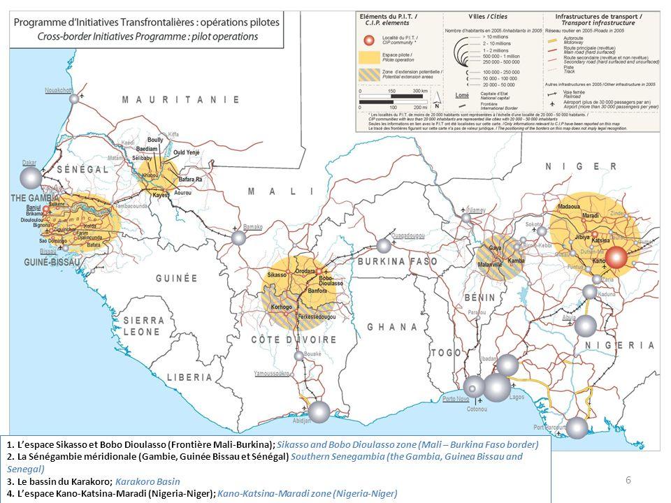 6 1. Lespace Sikasso et Bobo Dioulasso (Frontière Mali-Burkina); Sikasso and Bobo Dioulasso zone (Mali – Burkina Faso border) 2. La Sénégambie méridio