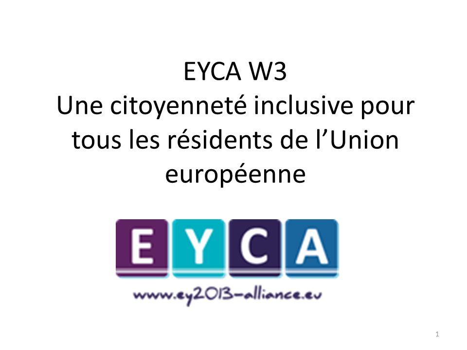 EYCA W3 Une citoyenneté inclusive pour tous les résidents de lUnion européenne 1