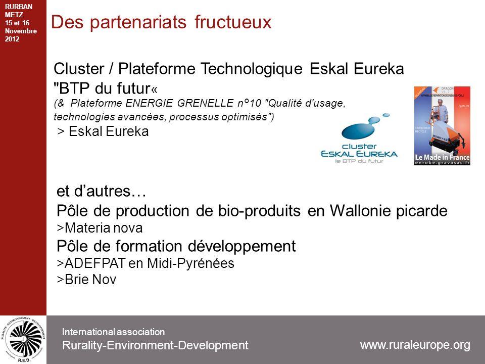 Des partenariats fructueux Cluster / Plateforme Technologique Eskal Eureka