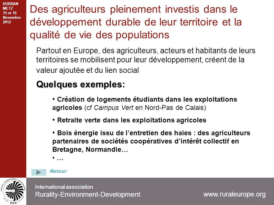 International association Rurality-Environment-Development Partout en Europe, des agriculteurs, acteurs et habitants de leurs territoires se mobilisen