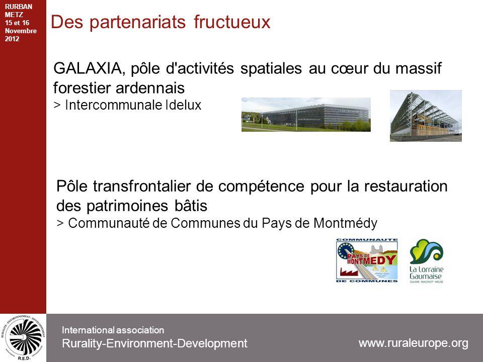 Des partenariats fructueux GALAXIA, pôle d'activités spatiales au cœur du massif forestier ardennais > Intercommunale Idelux www.ruraleurope.org Inter