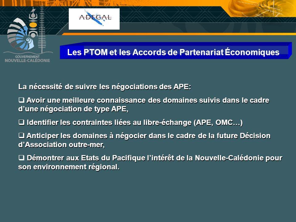 Cellule Communication Les PTOM et les Accords de Partenariat Économiques La nécessité de suivre les négociations des APE: Avoir une meilleure connaiss