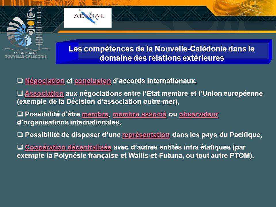 Cellule Communication Les compétences de la Nouvelle-Calédonie dans le domaine des relations extérieures Négociationconclusion Négociation et conclusi