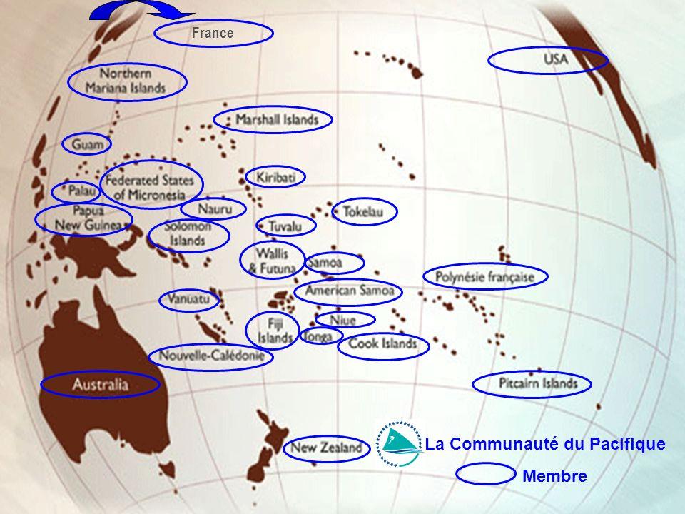Cellule Communication Organisations internationales dont la Nouvelle-Calédonie est membre, membre associé ou observateur Membre France La Communauté d