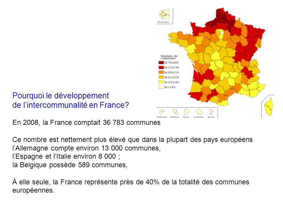 Pourquoi le développement de lintercommunalité en France.