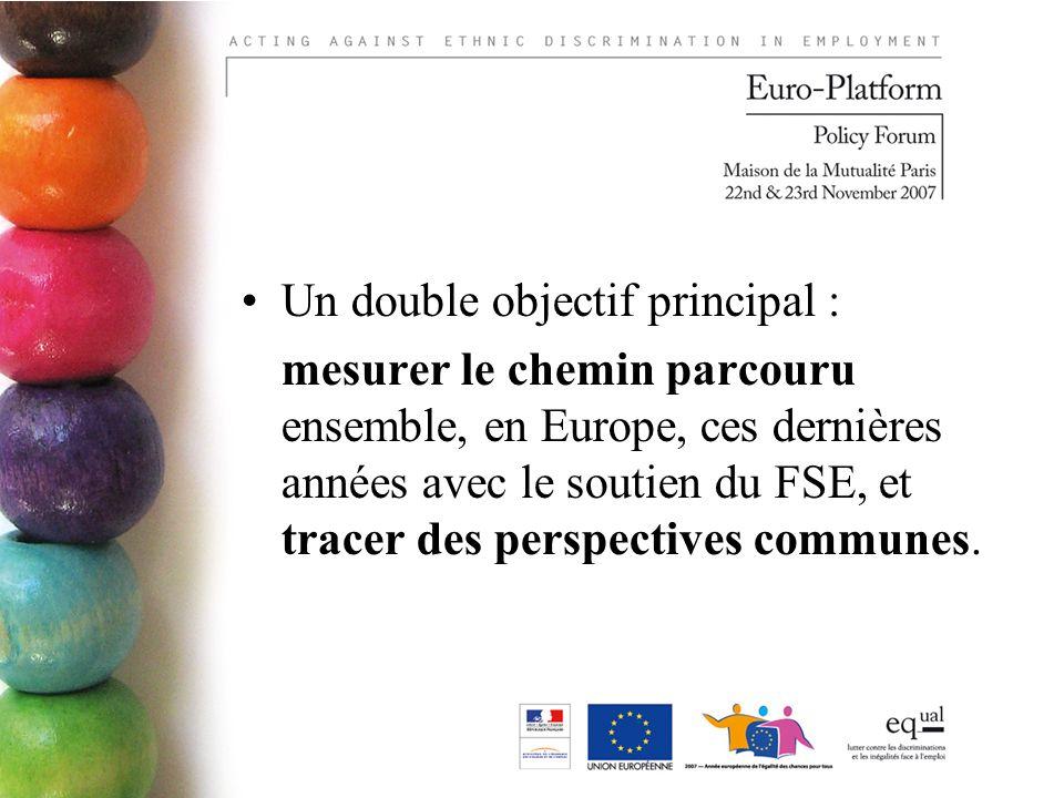 Un double objectif principal : mesurer le chemin parcouru ensemble, en Europe, ces dernières années avec le soutien du FSE, et tracer des perspectives communes.