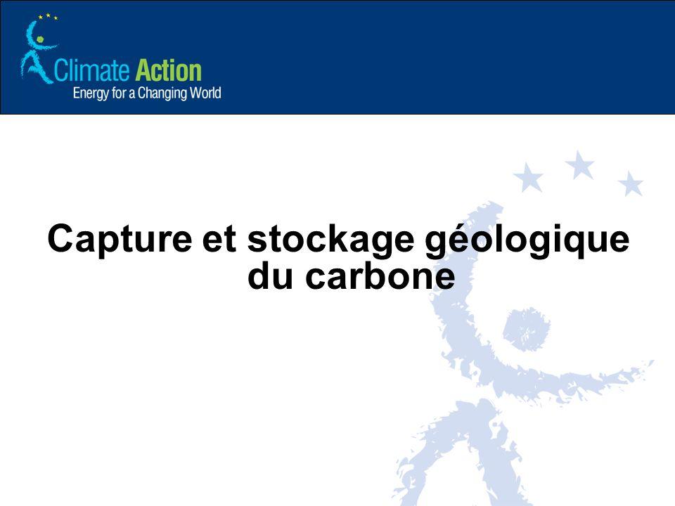 Capture et stockage géologique du carbone