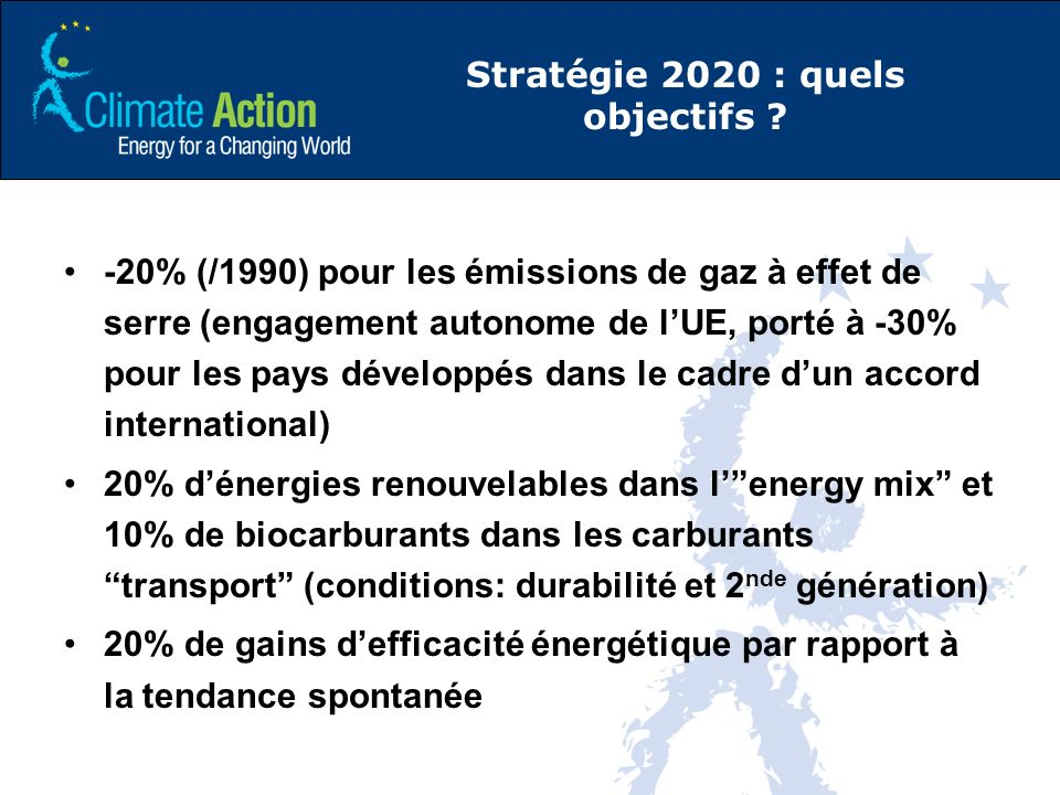 Stratégie 2020 : quels objectifs .