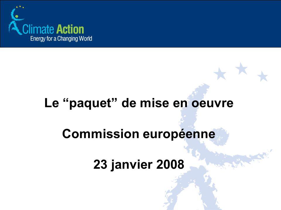 Le paquet de mise en oeuvre Commission européenne 23 janvier 2008