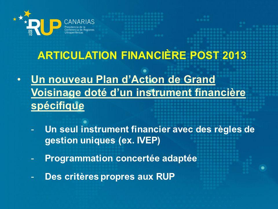 Un nouveau Plan dAction de Grand Voisinage doté dun instrument financière spécifique -Un seul instrument financier avec des règles de gestion uniques