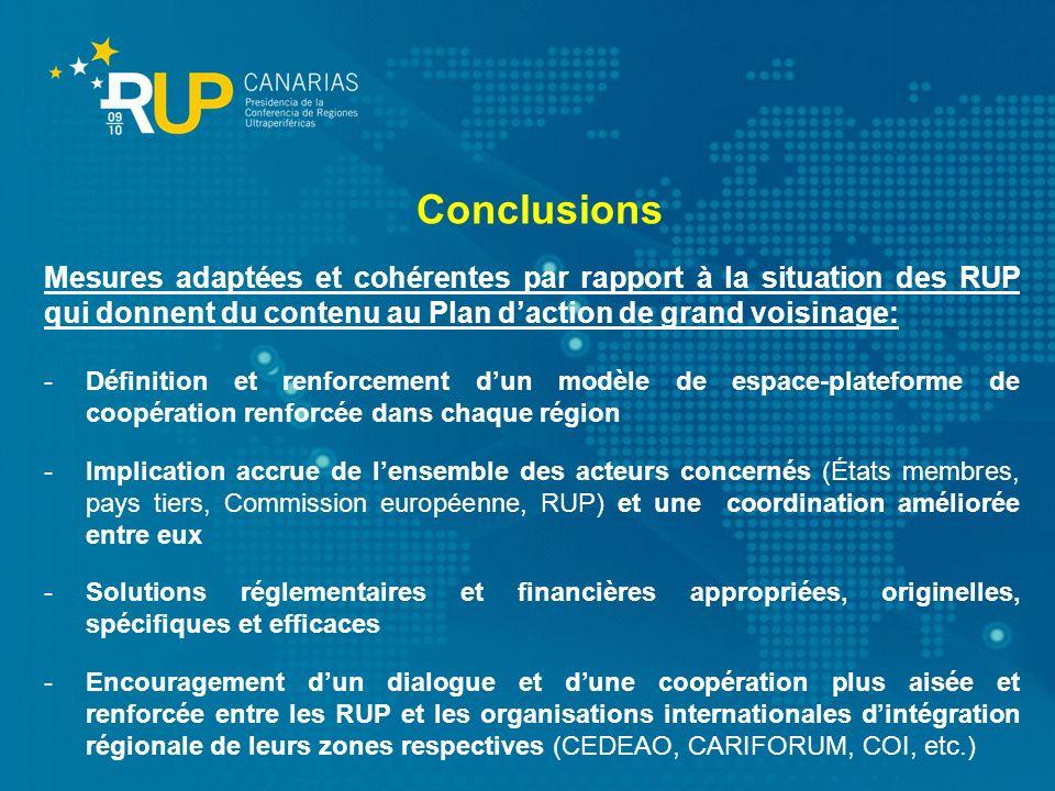 Mesures adaptées et cohérentes par rapport à la situation des RUP qui donnent du contenu au Plan daction de grand voisinage: -Définition et renforceme