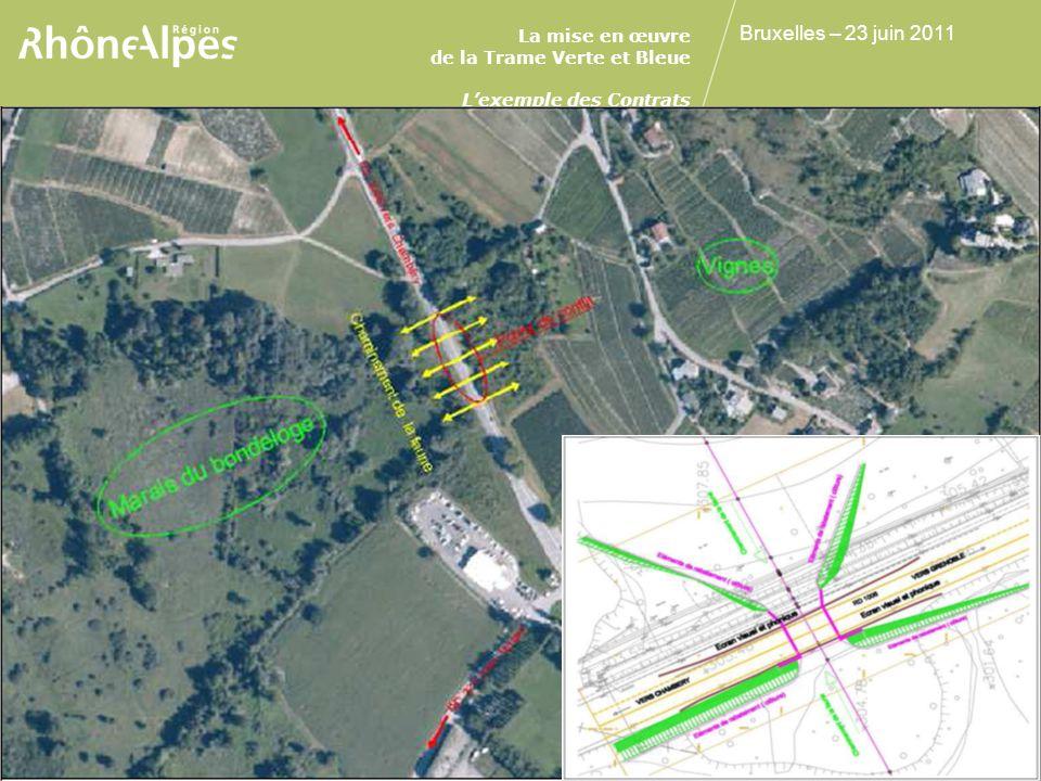 La mise en œuvre de la Trame Verte et Bleue Lexemple des Contrats « corridors biologiques » Bruxelles – 23 juin 2011