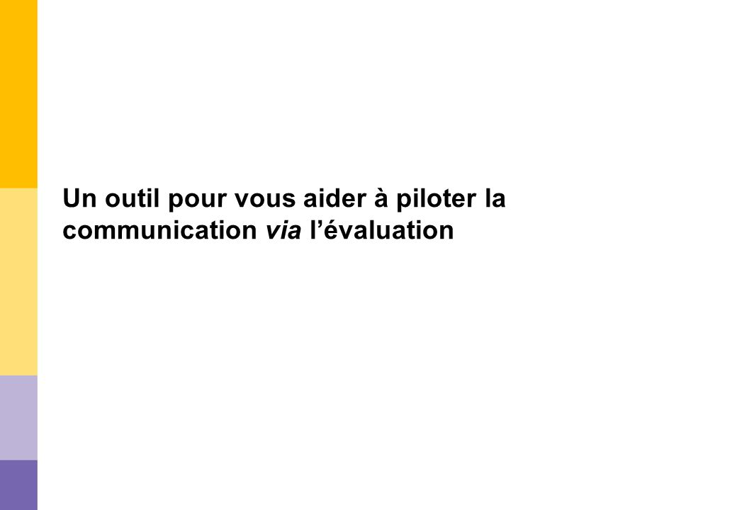 Un outil pour vous aider à piloter la communication via lévaluation