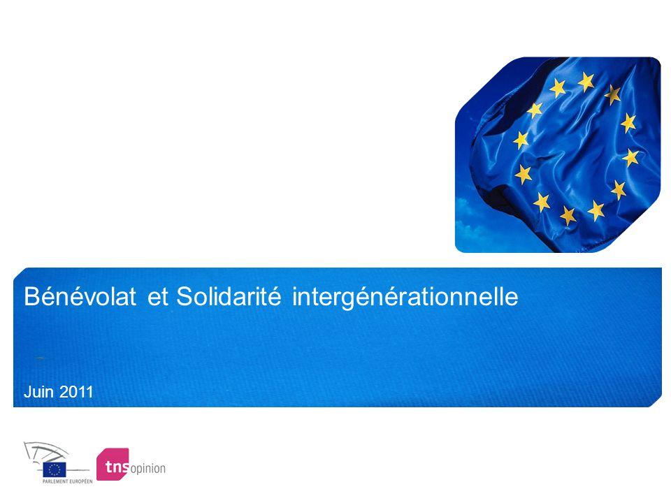 Bénévolat et Solidarité intergénérationnelle Juin 2011