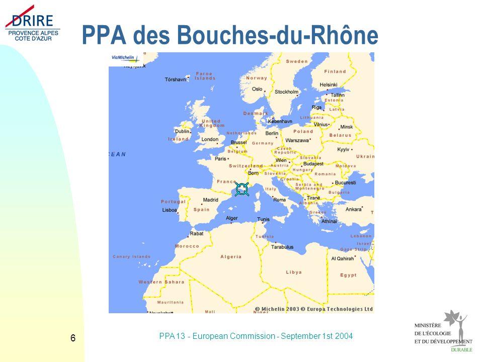 PPA 13 - European Commission - September 1st 2004 6 PPA des Bouches-du-Rhône