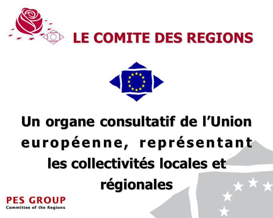 2 Un organe consultatif de lUnion européenne, représentant les collectivités locales et régionales LE COMITE DES REGIONS