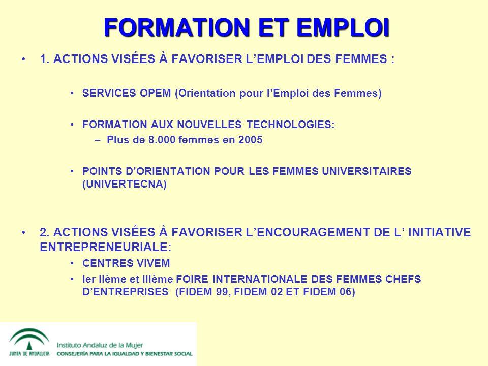 FORMATION ET EMPLOI 1.