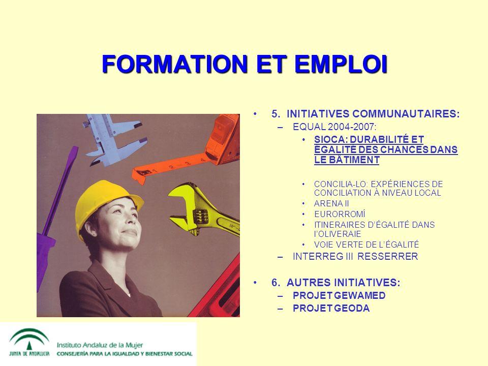 FORMATION ET EMPLOI 5.