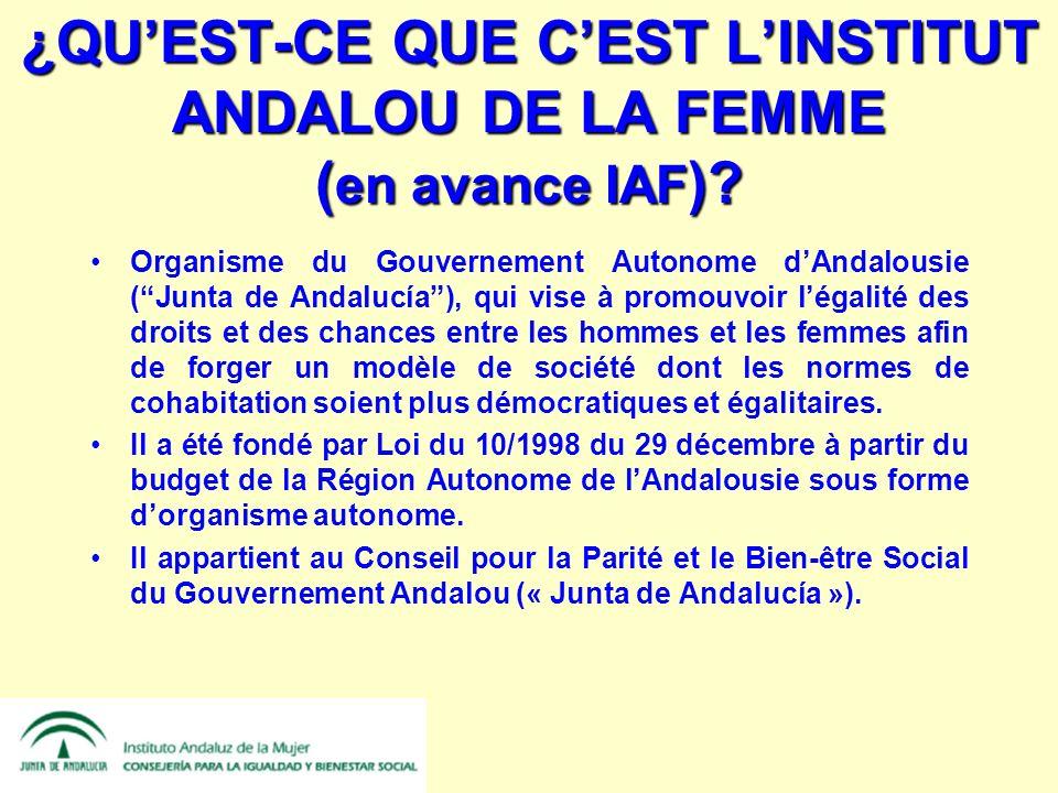 ¿QUEST-CE QUE CEST LINSTITUT ANDALOU DE LA FEMME ( en avance IAF ).