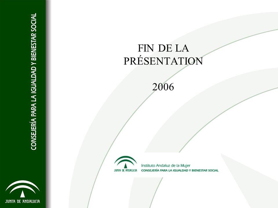 FIN DE LA PRÉSENTATION 2006